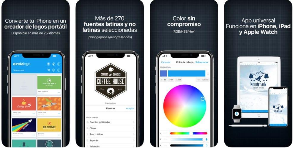 Cómo hacer logos con el móvil  Las mejores aplicaciones para iPhone c4babf02eb598